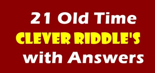 21 Old Time Clever Riddles with Answers
