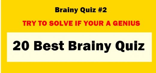 Here is 20 Best Brainy Quiz, Do you love Riddle's, Quiz, Tricky and Hard Questions or Puzzle's,