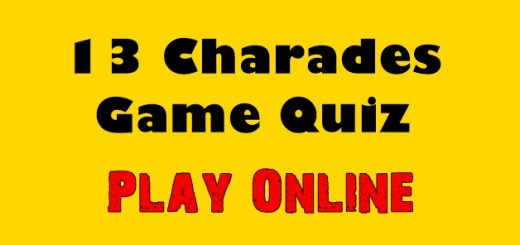 13 Charades Game Quiz Play Online